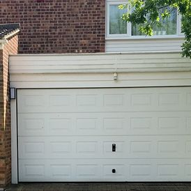 white garage installation