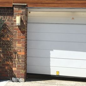 white garage at home